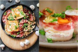 Wypasione śniadanie w 2 wersjach – jajka pieczone i sadzone w toście z pieczarkami
