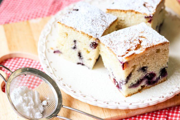 proste ciasto z borówkami